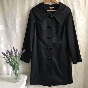 Vertigo Paris Long Black Trench Coat Classy M